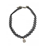 Coole statement choker ketting met strass steentje