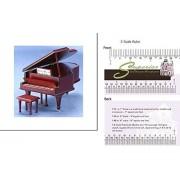 Dollhouse Miniature Grand Piano W/bench