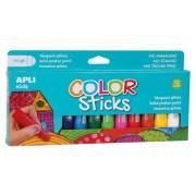 Tempera stift készlet, APLI Kids, 12 különböző szín (LCA14228)