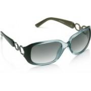 Equal Rectangular Sunglasses(Blue)