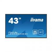 Монитор iiyama ProLite LE4340UHS-B1, 43 инча, черен