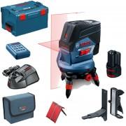 BOSCH GCL 2-50 C + RM 3 + BM 3 + RC 2 Nivela laser cu linii cu 1 acu 12 V (20 m) cu Bluetooth + Suport rotativ + Suport perete + Telecomanda + L-BOXX