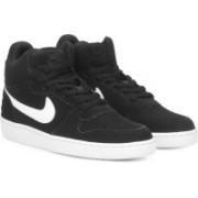 Nike COURT BOROUGH MID Sneakers For Men(Black)