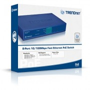 SWITCH, TRENDnet TPE-S44, 8-port 10/100, PoE