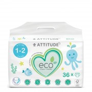 Attitude Pañales Attitude T1-T2 Mini (3-6kg) 36 unidades