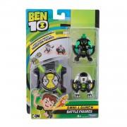 Ceas Ben 10 Omnitrix & 2 Figurine (Cap de Diamant, Ghiulea)