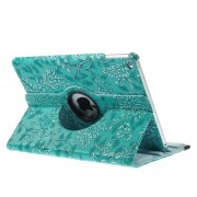 Javu - iPad Air 2 Hoes - Rotatie Cover Bloemenstructuur Turquoise