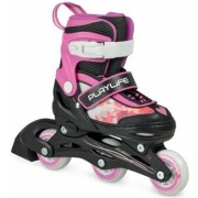 Playlife Verstelbare Inline Skates Jumper girls junior roze maat 30/33