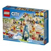 LEGO City Town People Pack Fun at The Beach Building Blocks for Kids 5 to 12 Years (169 Pcs) 60153