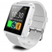 Bluetooth Smart Watch Inteligente Reloj Teléfono Compañero Para Android IOS Iphone Samsung Galaxy HTC,Sony (Blanco, U8)