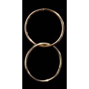 Cosmoda Collection Trendy oorbellen in ring optiek goud