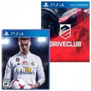Игра FIFA 18 за PlayStation 4 - PS4 + Игра DRIVECLUB PS4