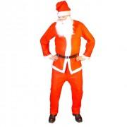 Kostým santa claus oblek čepice kabát kalhoty vous