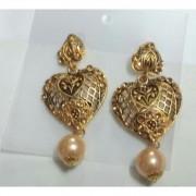 American Diamond Matte Finish Brass Earrings American Diamond Earrings Online