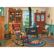 Bits and Pieces - 300 Large Piece Jigsaw Puzzle for Adults - Cat Nap - 300 pc Americana Jigsaw by Artist John Sloane