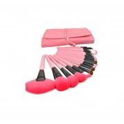 Set De 24 Piezas Brochas De Maquillaje Profesional-Rosa