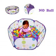 TRAVER DREAM Kids Ball Pit, TD Large Pop Up Toddler Ball Pits Tent for Toddlers, Children for Indoor Outdoor Baby Playpen with Zipper Storage Bag, Balls Not Included