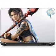 VI Collections ANIMATED GIRL WITH TATOO pvc Laptop Decal 15.6