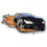 Fólia lufi, mini forma, hot cars, fekete kb. 40 cm