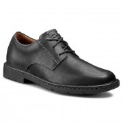 Обувки CLARKS - Stratton Way 261025207 Black Leather