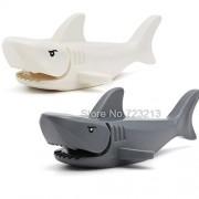Generic Ghost Zombie Shark Block Pirates of The Caribbean Jack Building Blocks Set Model Bricks Toys for Children Mini Sharks