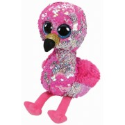 Boos Flamingo Roz Cu Paiete, 24 cm