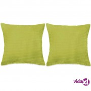 vidaXL Set Jastuka 2 kom od Velura 45x45 cm Zeleni
