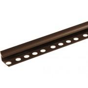 Profil colț pentru gresie și faianță din PVC, interior, 10 mm, maro IU10