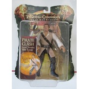 """Will Turner Pirate Clash Sword Thrusting 7"""" Figure Pirates of the Caribbean at World's End #00292"""