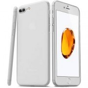Husa PP Ultra Slim FitPhone Apple iPhone 7 Plus Antiamprenta Alb Transparent