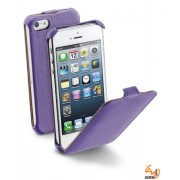 Flap Essential за iPhone 5/5S лилав Cellular line