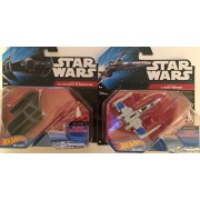 Darth Vader's Tie Advanced X1 Prototype & Resistance X-Wing Fighter Star Wars Hot Wheels Die-Cast Vehicles