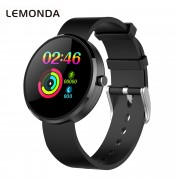 LEMONDA DM78 1.22 inch Color Screen Health Smart Bracelet Female Physiological Cycle Record Silicone Strap - Black