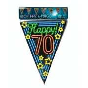 Coppens Neon party flag - 70 - Overig - Grootte: Nvt