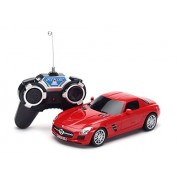 The Flyers Bay Rc Mercedes-Benz Sls Amg 1:24 Scale Full Function With Shock Absorber Led Lights,Red