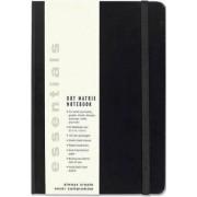 Esstentials Large Black Dot Matrix Notebook (Diary, Journal) by Inc Peter Pauper Press