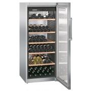 Vitrina pentru vinuri Liebherr WKes 4552, 435 L, 201 sticle, Rafturi lemn, Control taste, Display, H 165 cm, Clasa A+, Inox