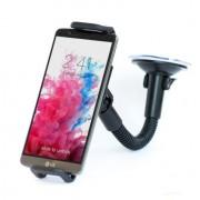 Shop4 - HTC Desire 620 Autohouder Verstelbare Raamhouder Zwart