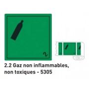 ATB 5305 étiquettes GAZ NON INFLAMMABLES NON TOXIQUES 100x100mm rouleaux de 1000