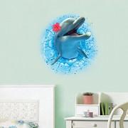 Generic 3D Dolphin Wall Art Sticker Kids Bedroom Mural Wallpaper Decor