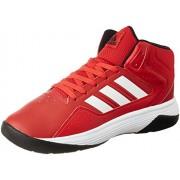 adidas neo Men's Cloudfoam Ilation Mid Scarle, Ftwwht and Cblack Leather Sneakers - 9 UK/India (43.33 EU)
