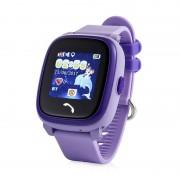 Ceas inteligent pentru copii GW400S Mov rezistent la apa cu telefon GPS touchscreen monitorizare spion