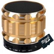 Boxa Portabila Bluetooth iUni DF12, Aluminiu, Gold + Card 4GB Cadou