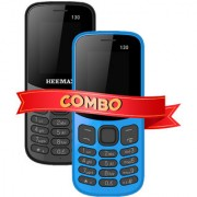 HEEMAX P130 COMBO (Dual Sim 1.8 Inch Display 1000 Mah Battery 1 YEAR WARRANTY Made In India )BLACK AND BLUE