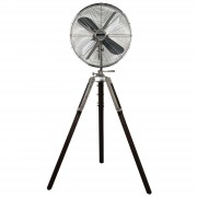 Retro Airstyle pedestal fan, stained walnut