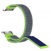 Closure Nylon Watch Wrist Band for Garmin Fenix 5S/5S Plus - Green/Blue