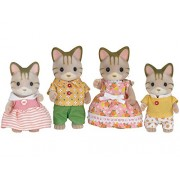 Sylvanian Families dolls Stripe Cat Family