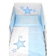 Baby Nellys 5-dílná sada do postýlky Baby Stars - modrá