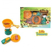 Mini Camp Gas-stove and cooking camping expansion set from Little Treasures is sleek and cool sure to catch the eye of any child.