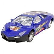 Techege Toys Blue Racing Lambo Super Car Self Driving BumpNGo Race Car Realistic Sounds Flashing Lights